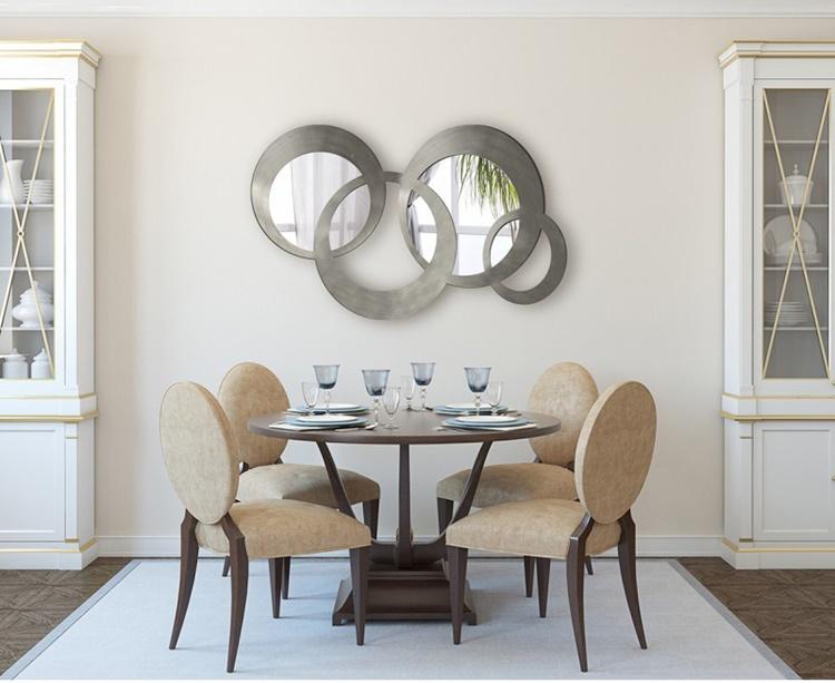 espejos con aros en dorado&plata