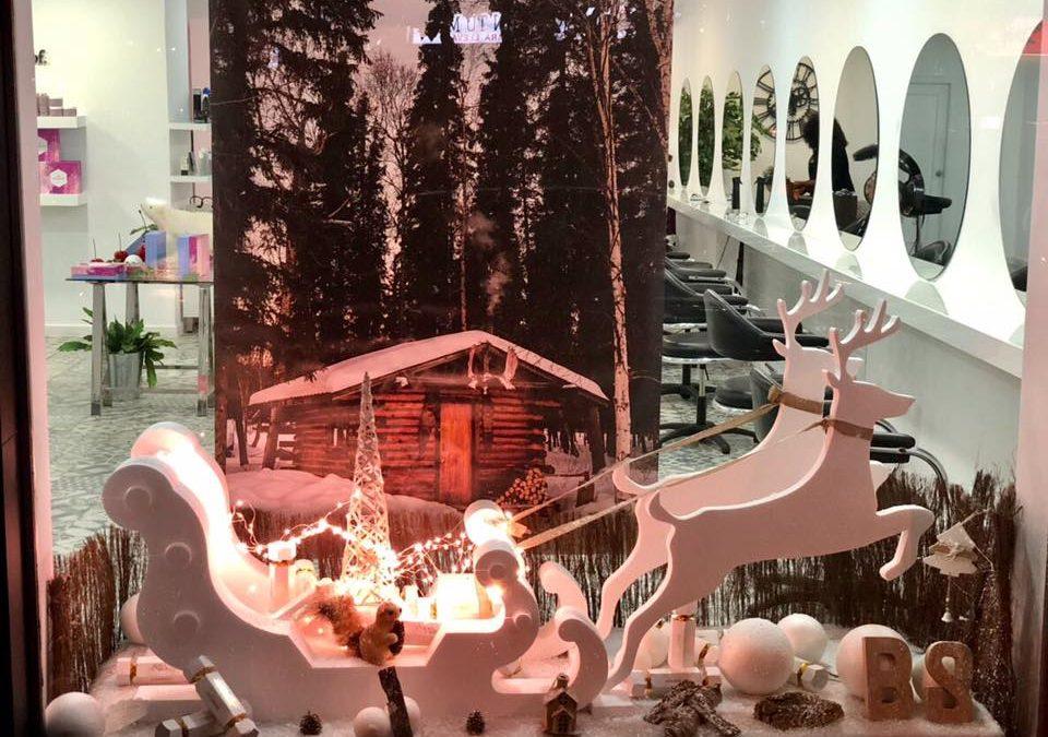 escaparate de navidad con espiritu nordico