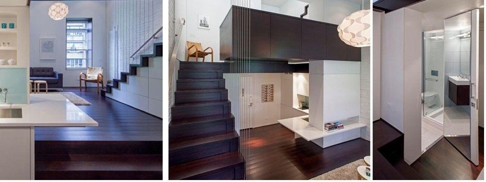 Antes y despues de un microloft de 40 m2 en Manhattan
