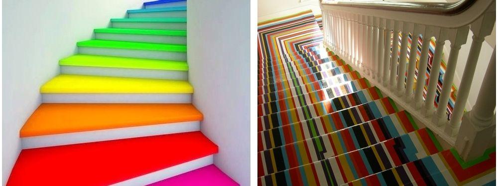 Escaleras decoradas. Diseño, originalidad, tendencia.