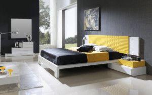 decora dormitorio matrimonio con amarillo