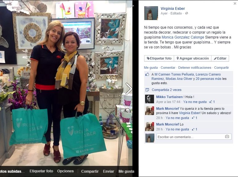 2014-10-02 con Monica Glez Calonge en Facebook