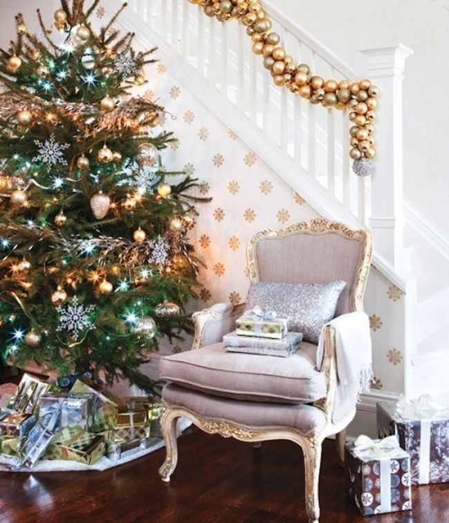ideas brillantes para decorar la navidad 17