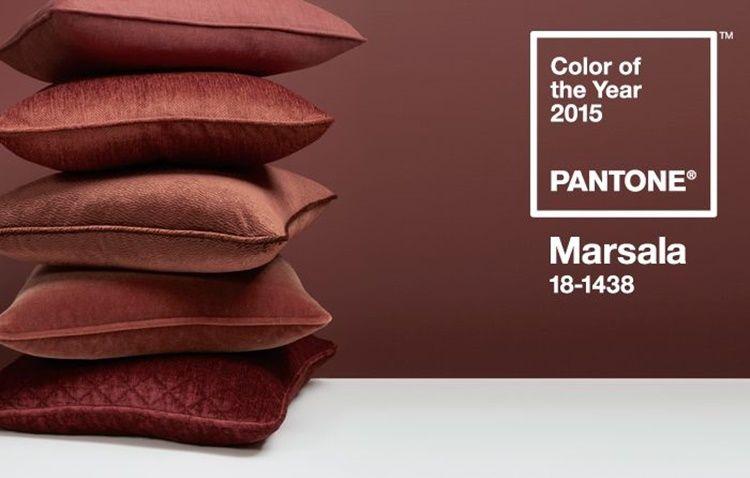 Decora con el color estrella  2015: pantone MARSALA