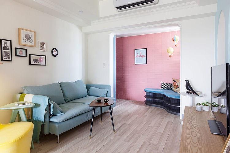 apartamento ecleptico con toques de color 4