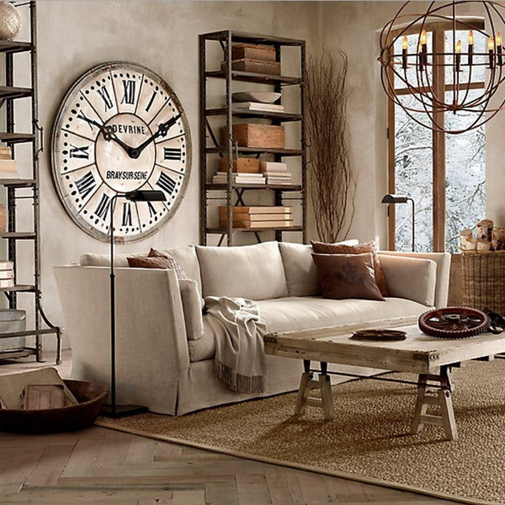 ideas para decorar con relojes grandes