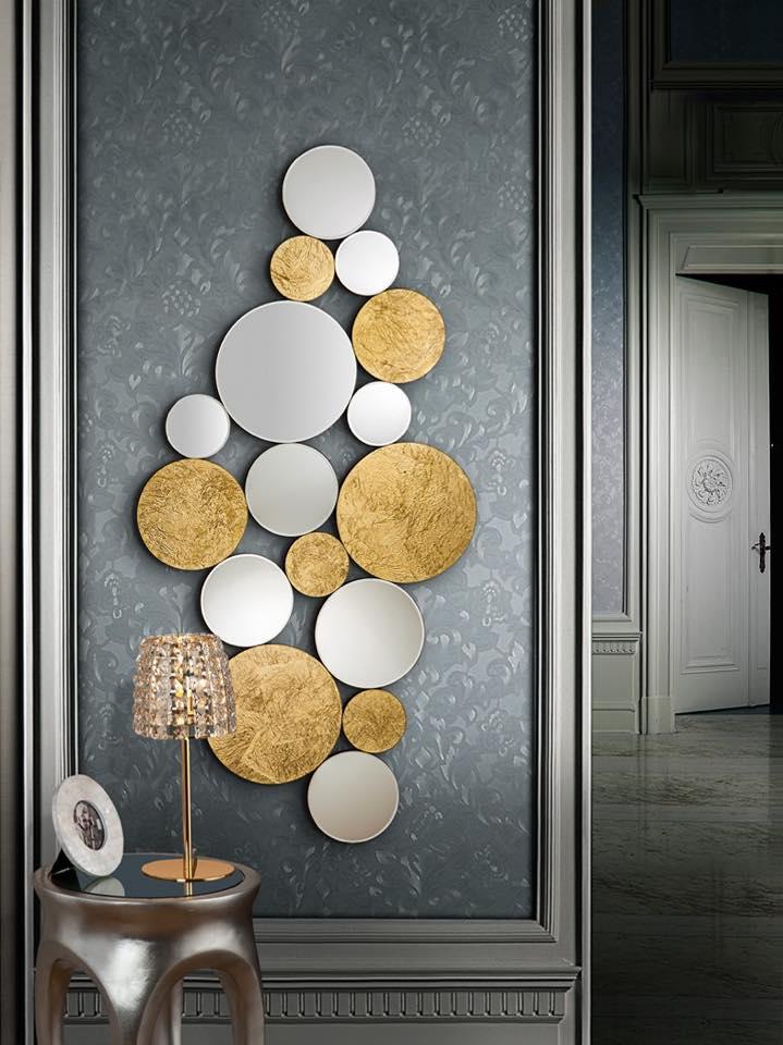 decora con espejos dorados